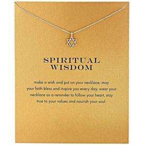 Star Of David Spiritual Wisdom Silver Necklace